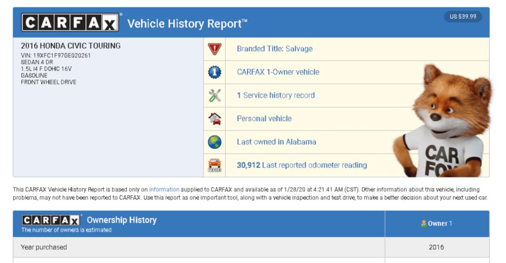 Проверка авто из США