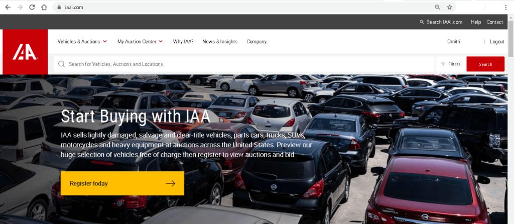 Аукционы автомобилей и мотоциклов в США - iaai